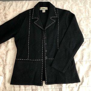 Wool coat blazer